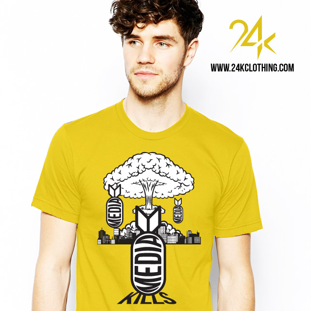 Yellow media kills tshirt
