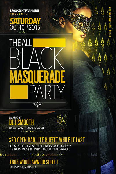 Black flyer design