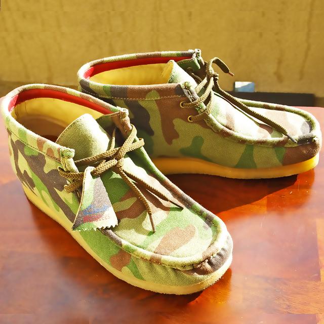 Army Fatigue Wallabee Clarks